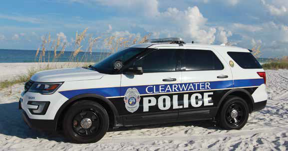Clearwater Police Department SUV on sand