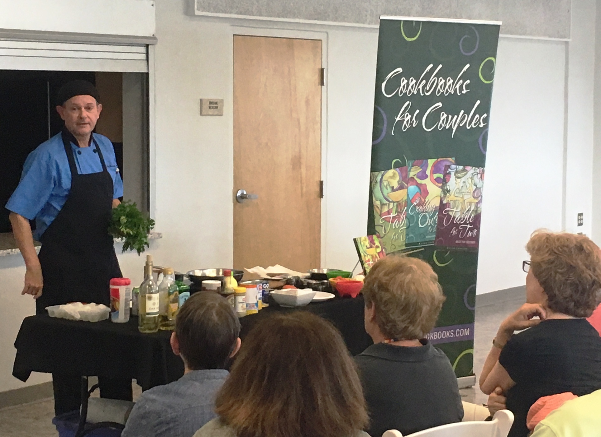 Chef Warren demonstration at the Beach Library