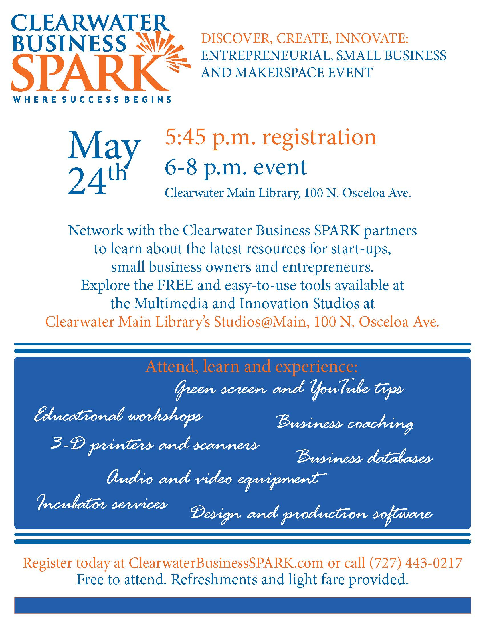 clearwater business spark event may 24 news feed city of
