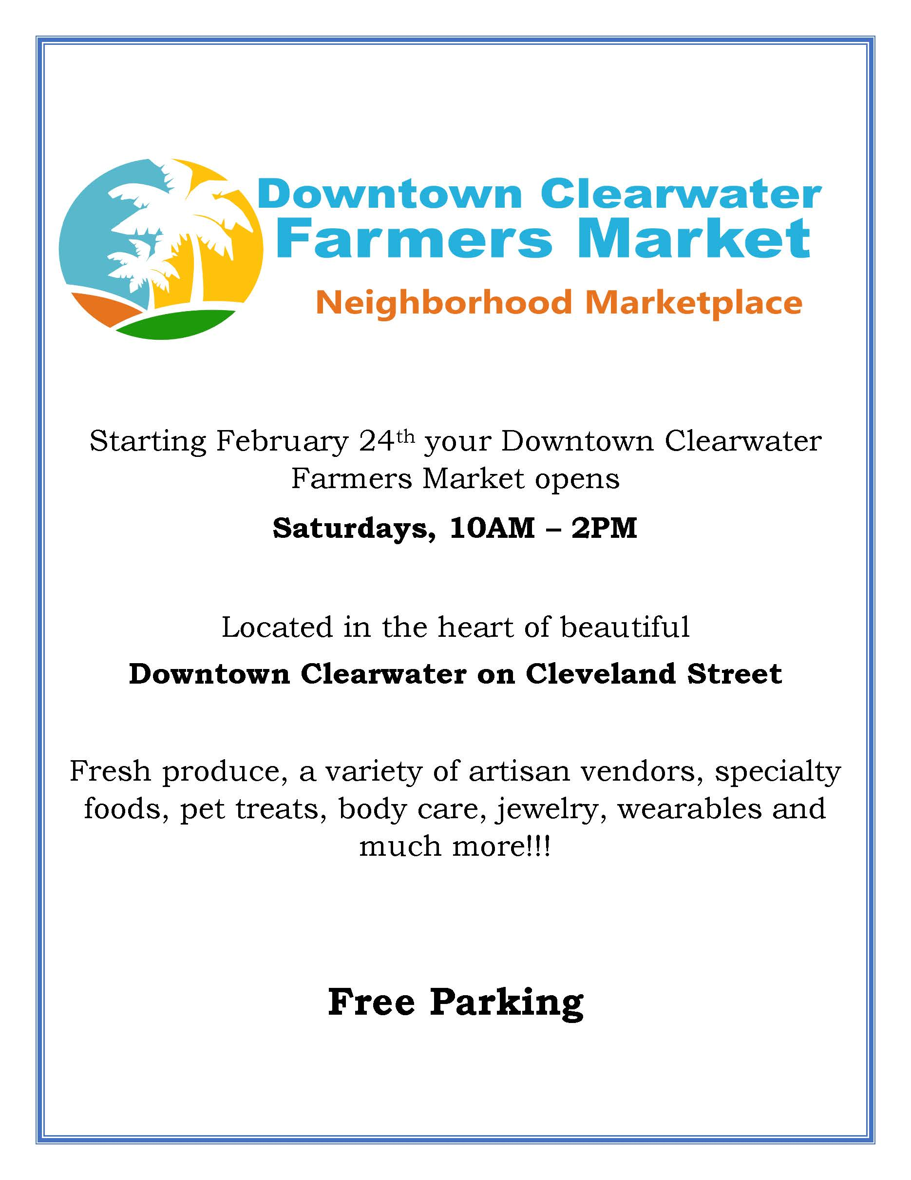 Downtown Clearwater Farmers Market Grand Opening On Cleveland Street