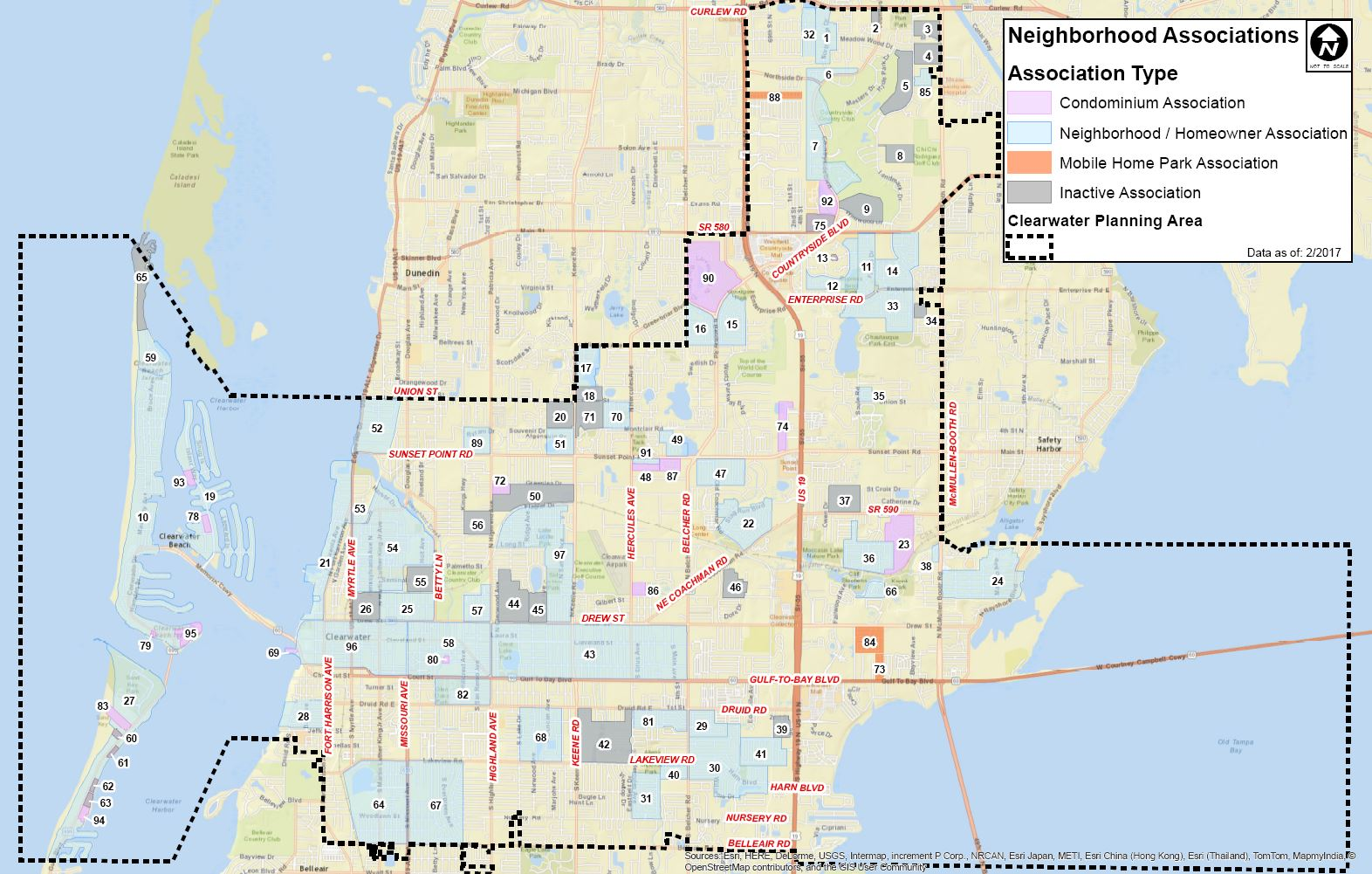 Clearwater Florida Map Clearwater Neighborhood Map | City of Clearwater, FL Clearwater Florida Map