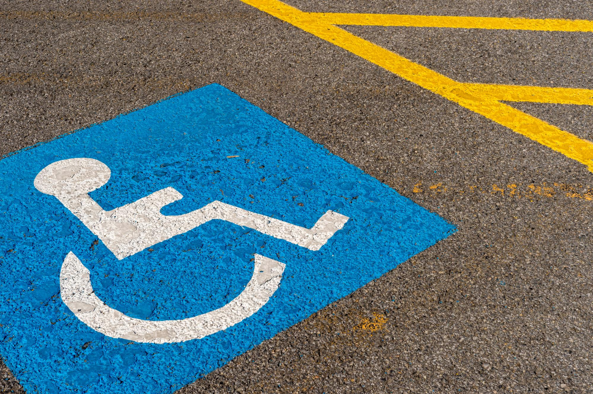 Handicap parking, Clearwater handicap, ADA Parking, Beach ADA Parking