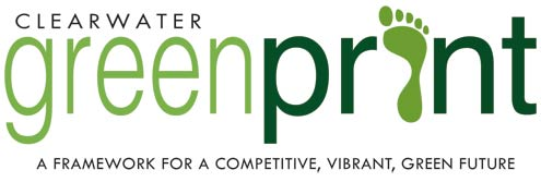 Large image of greenprint logo saying a framework for a competitive vibrant green future