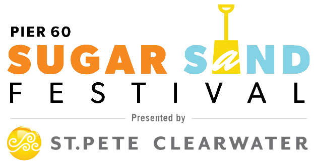Pier 60 Sugar Sand Festival Presented by Visit St. Pete Clearwater Logo