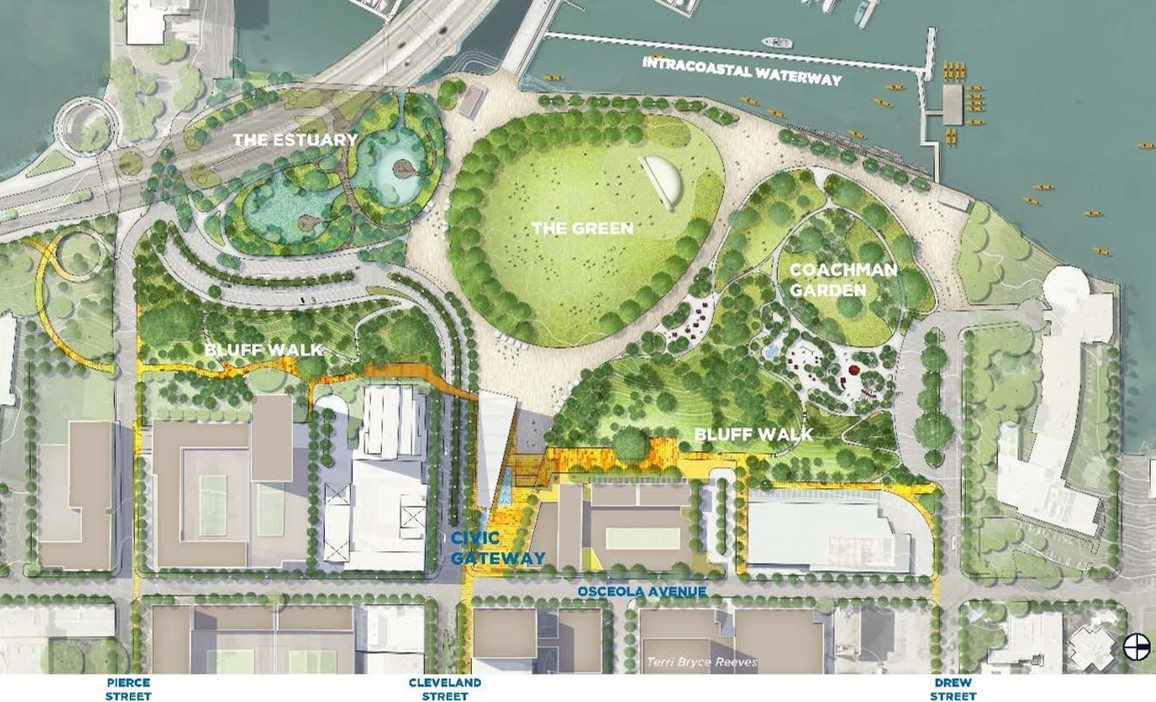 Image of the design for the civic gateway plans for downtown clearwater