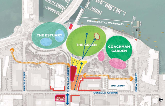 Image of Map of Downtown near the Main Library Area